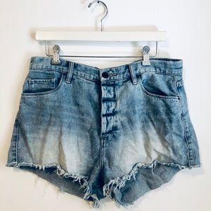 Blank NYC Denim Distressed Shorts Size 31